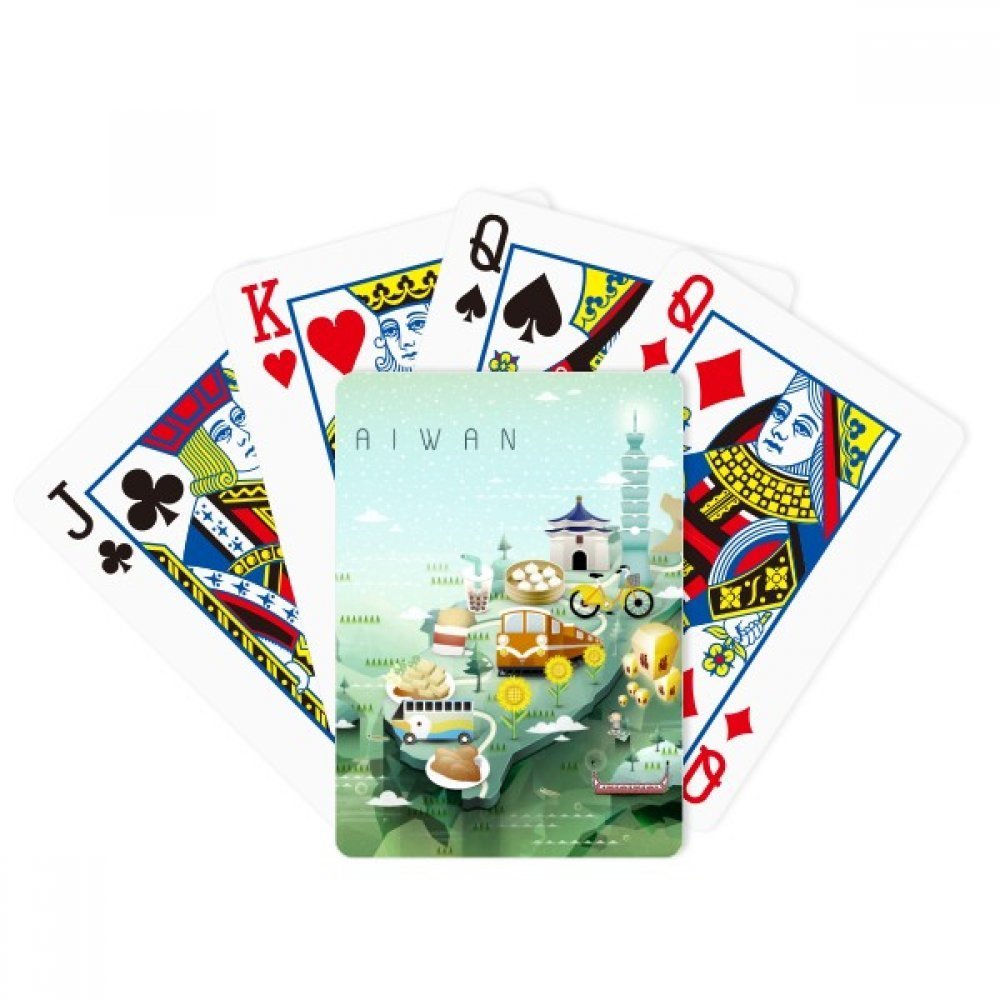 Travel Taiwan Food Attractions China Poker Playing Card Tabletop Board Game Gift by beatChong