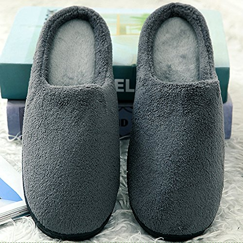 Mens Womens Slippers House Winter Foam Bedroom Cideros Coral Footwear Gray Clogs Warm Fleece Shoes Memory Cozy amp; E1dxfq