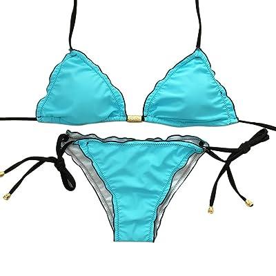 SAFASHION Usine Directe Maillot de bain Triangulaire Bikini Volante Bande Femme