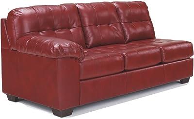 Ashley Furniture Signature Design - Alliston Contemporary Left Arm Facing Sofa - Sectional Component Only - Salsa