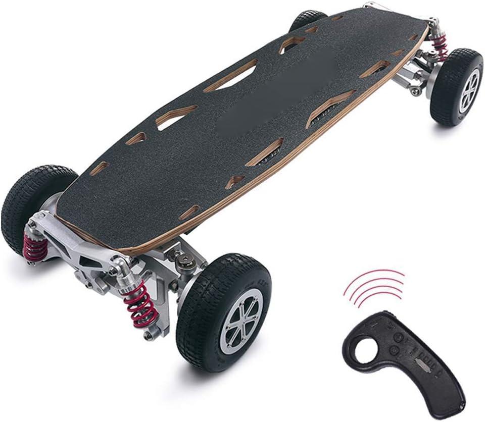 J&Z Scooter eléctrico para Adultos, Off-Road Dual-Drive/Las Cuatro Ruedas Alta Velocidad Monopatín de Control Remoto inalámbrico Scooters 37.4 '' * 16.5 '' * 7.1 ''