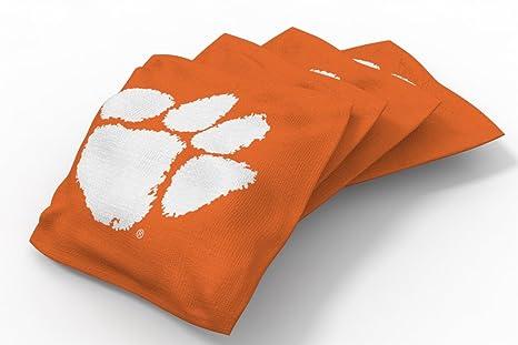 Enjoyable Wild Sports Ncaa College Clemson Tigers Orange Authentic Cornhole Bean Bag Set 4 Pack Dailytribune Chair Design For Home Dailytribuneorg