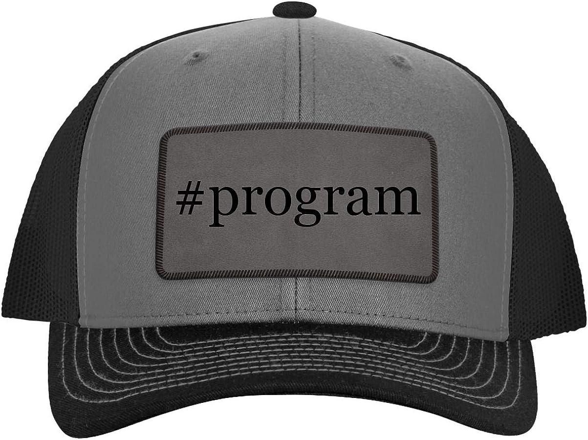 ein Legging es Around #Program - Hashtag Leather Grey Patch Engraved Trucker Hat