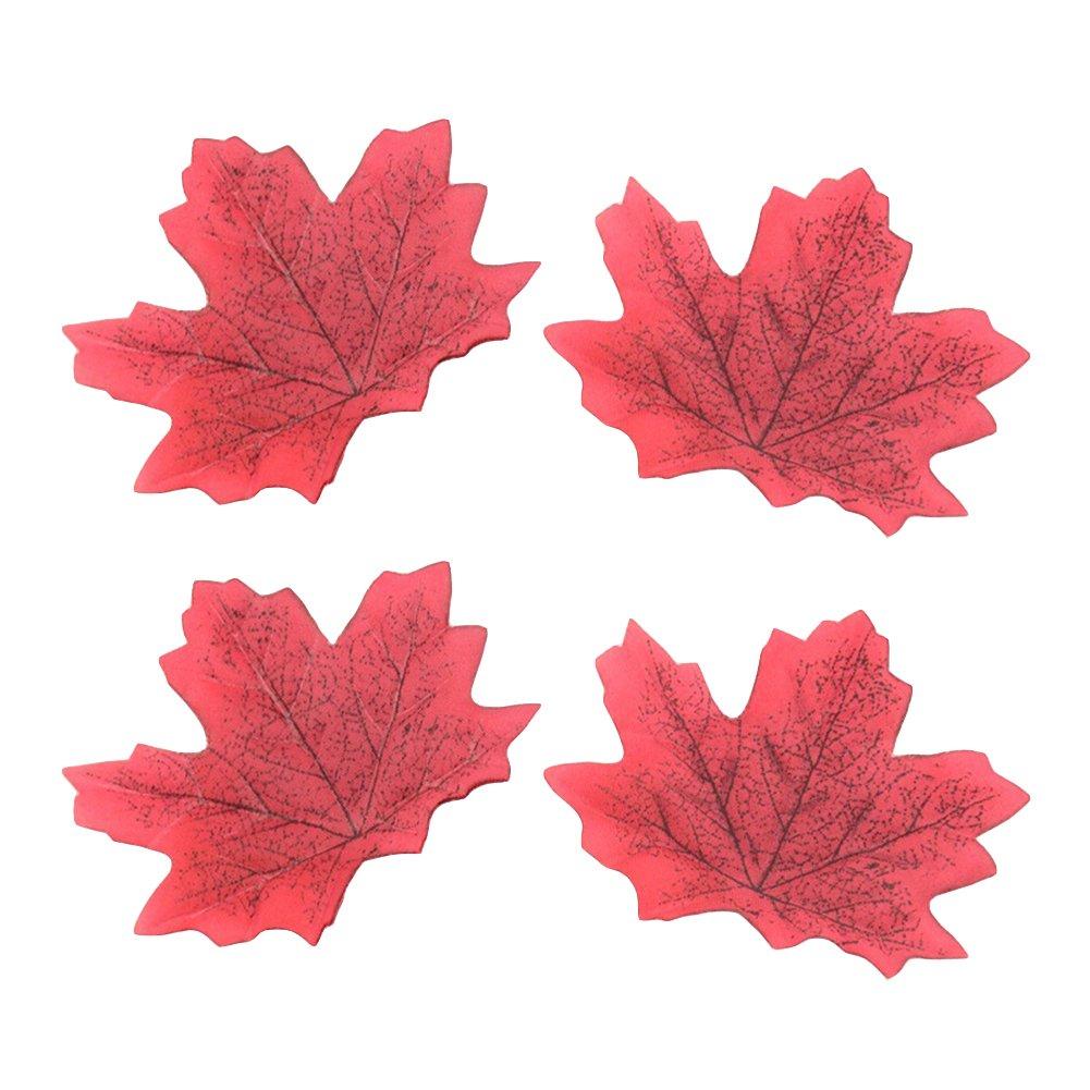 秋の秋に動く人工カエデの葉 結婚式 イベント デコレーション レッド FLT3MTQAMS2954IW6T1Z6UPMF688 B07H3TSQC4 レッド