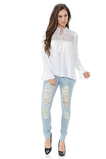 a263df3ebe Diamante Fashion Women s Blouse · Style 6187295 at Amazon Women s Clothing  store