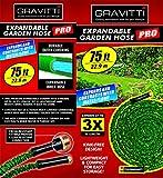 Gravitti Deluxe Expandable Garden Hose 75Ft