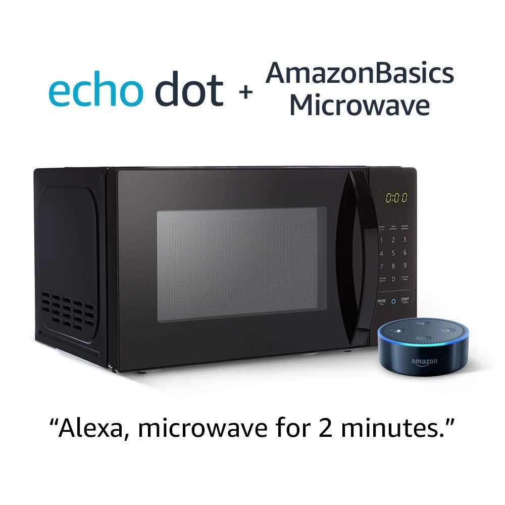 AmazonBasics Microwave with Echo Dot (2nd Gen) - Black