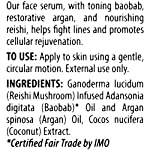 Alaffia - Coconut Reishi Face Serum, Restorative Support to Reduce Wrinkles and Fine Lines with Argan and Baobab Oil, Reishi Mushroom, and Coconut, Fair Trade, 1 Ounce 17 100% FAIR TRADE: Feel good about how you are getting your products with 100% Certified Fair Trade Ingredients. COCONUT, REISHI MUSHROOM AND SHEA: Fair trade, sustainable & wildcrafted ingredients from Alaffia cooperatives. TONE AND RESTORE: Baobab for toning and argan to restore your skin's vitality.