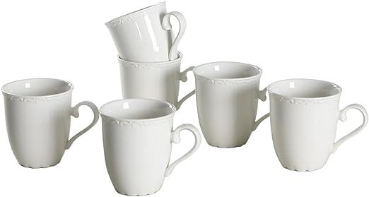 solecasa 9/13 onzas Classic Floral tazas de porcelana (apta para ...