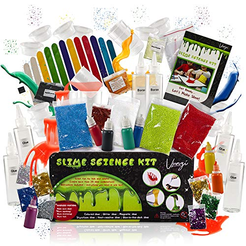 Slime Kit for Girls and Boys - Ultimate Slime Supplies DIY Slime Kits - Slime Making Kit Cloud Slime - [72 Pieces] DIY Slime Kit with Activator, Clear Glue, Foam Balls, Slime Glue, Glow In The Dark