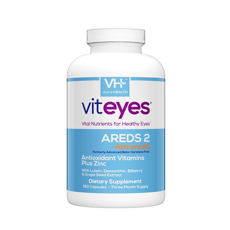 VITEYES® AREDS 2 Advanced Formula, 180 Count - Single Daily Dose Eye Vitamin, Soy Free, Dye Free & Allergen Free