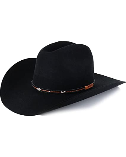 Cody James Men s Lamarie Wool Felt Cowboy Hat Black 6 3 4 at Amazon ... 2f24462628e7