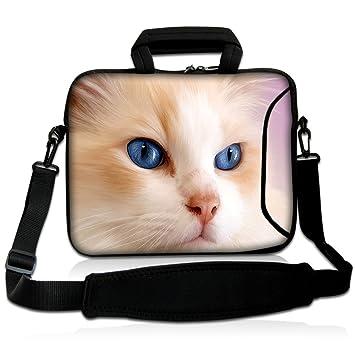 Laptop funda bolsa 15 – 15,6 Caso neopreno con asa y correa para