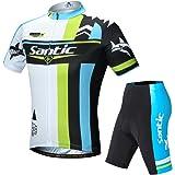 【サンティック】Santic メンズ サイクルジャージ 半袖 上下セット サイクルウェア ビブ選択可 夏用 吸汗速乾