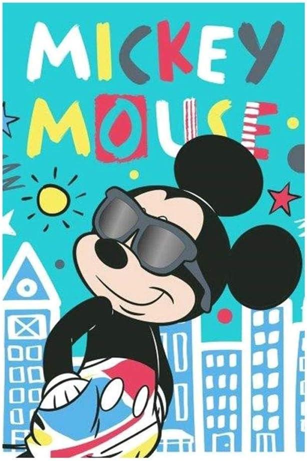 de 40 x 60 cm Theonoi 2 Ratones de Mickey Mouse Juego de 2 Unidades Juego de 2 Toallas de Mano para ni/ños 100/% algod/ón