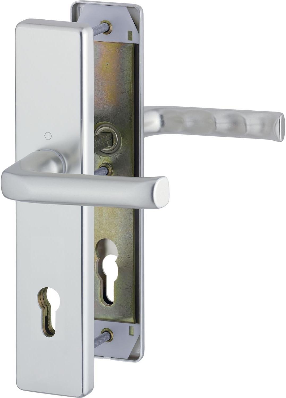 anodizado en plata /47/mm 2/x Hoppe de seguridad Cilindro perfilado London/ sin protecci/ón de cilindros /Sobre placa larga distancia 88/mm SST 8,5 doble Pack grosor de la puerta 42/