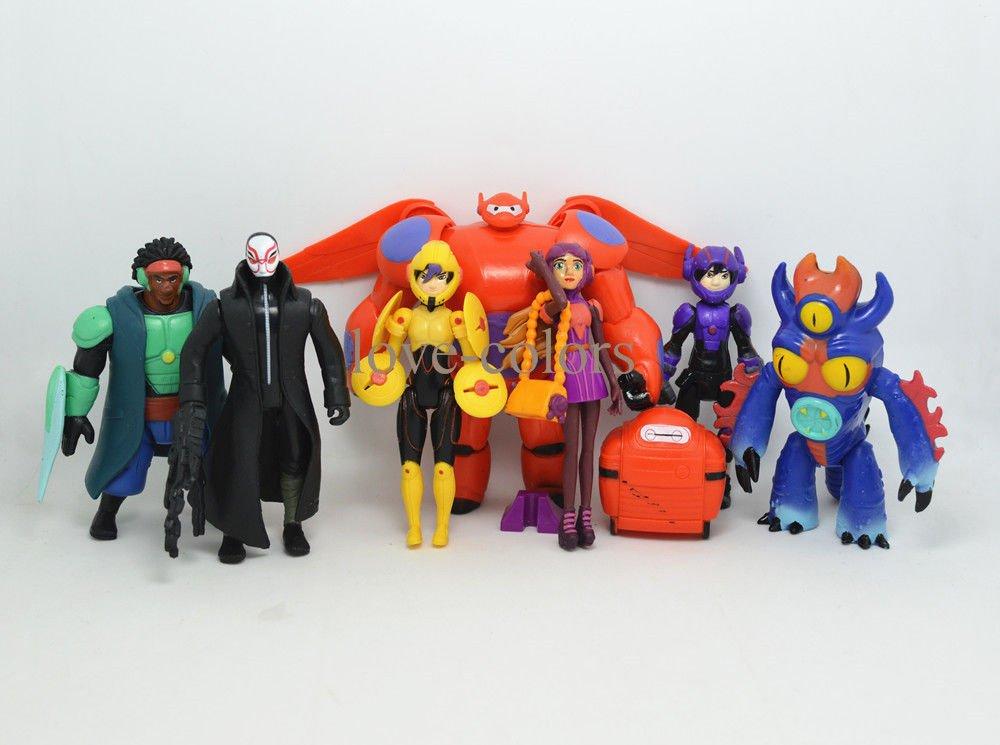 7 pcs New Action Figures Baymax Hiro Fred GoGo Tomago Yokai Big Hero 6 Toys