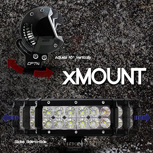 OPT7 C1 22 Off-Road LED Light Bar w//Wire Harness and Switch 120w Spot Auxiliary Lamp