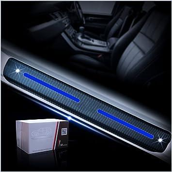 4D Carbon Fiber Vinyl Sticker for GMC Acadia 2007 to 2016 Car Door Sill Door Entry Guard Car Door Entry Protectors Auto Accessories 4Pcs