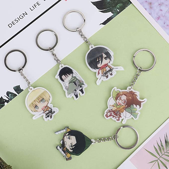 Amazon.com: Elibeauty Attack On Titan Anime Accesorios Mini ...