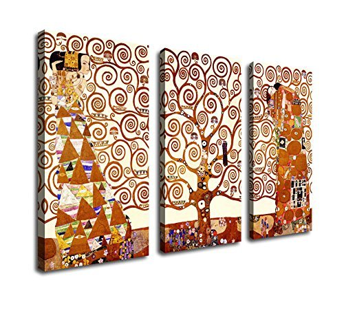 Extra Large Wall Art Abstract Painting Canvas Prints Tree of Life Stoclet Frieze 1909