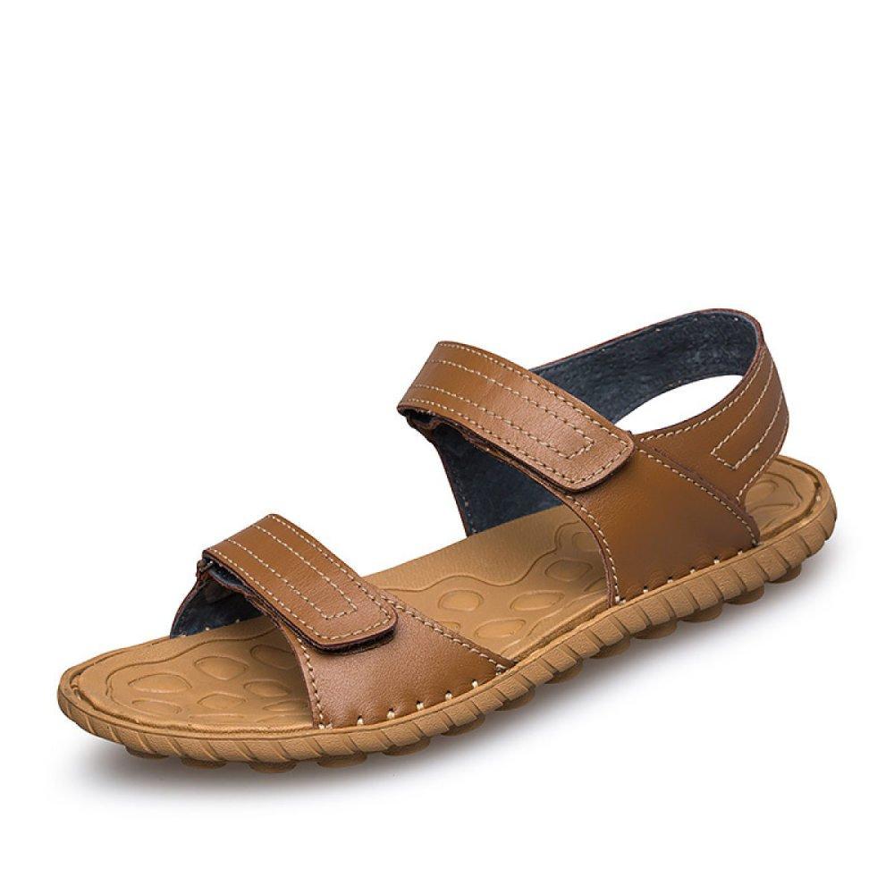 Zapatos De Cuero para Hombres Sandalias Calzado De Hombre Moda Verano Casual Simple 40 EU|Brown