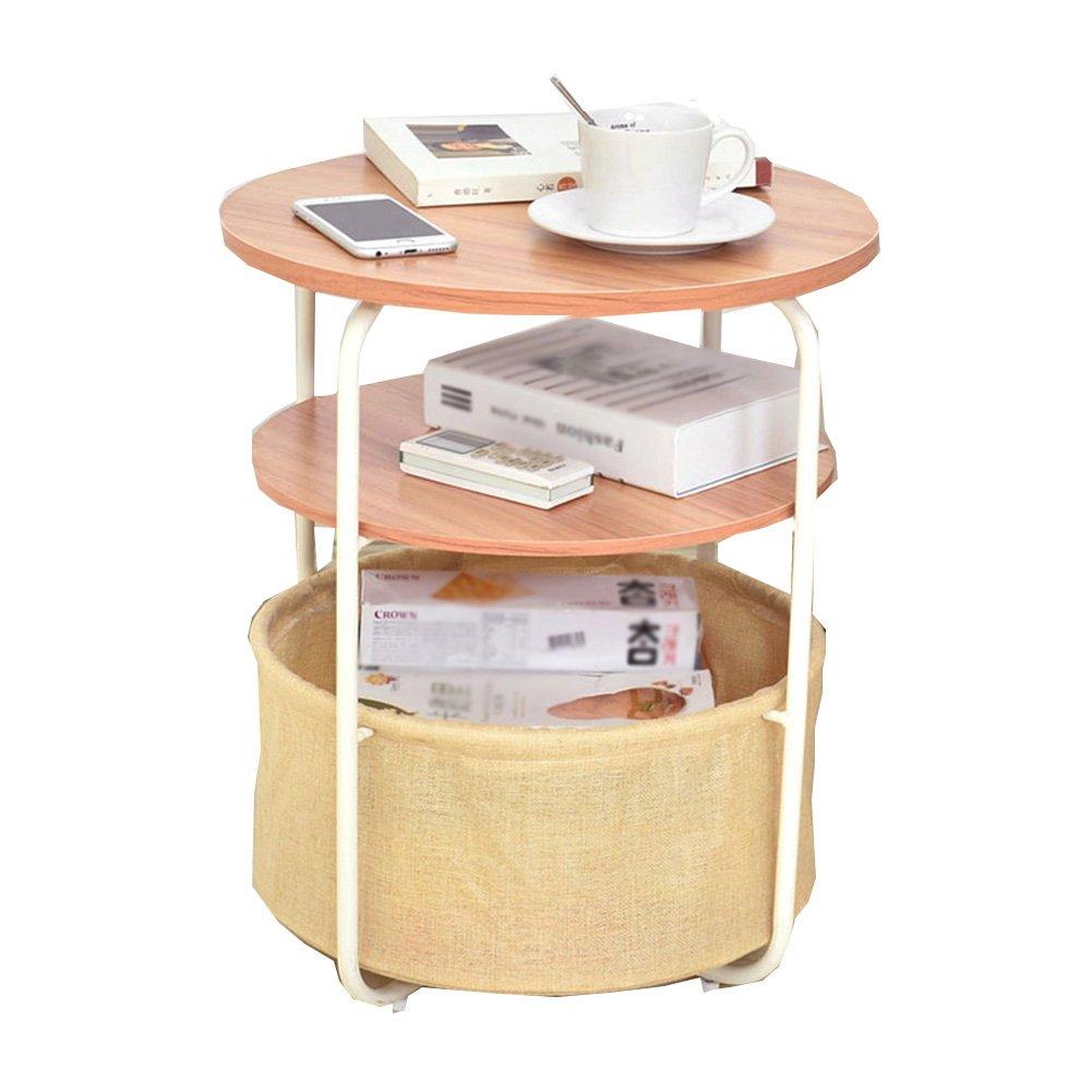 CSQ テーブル、コーヒーテーブル、サイドテーブル、収納バスケット、ソファサイドテーブルベッドサイドテーブルライティングデスクドレッシングテーブルダイニングテーブル木製サイドテーブル42 * 42 * 51CM コー\u200b\u200bヒーテーブル (色 : D) B07DNX4KTL D D