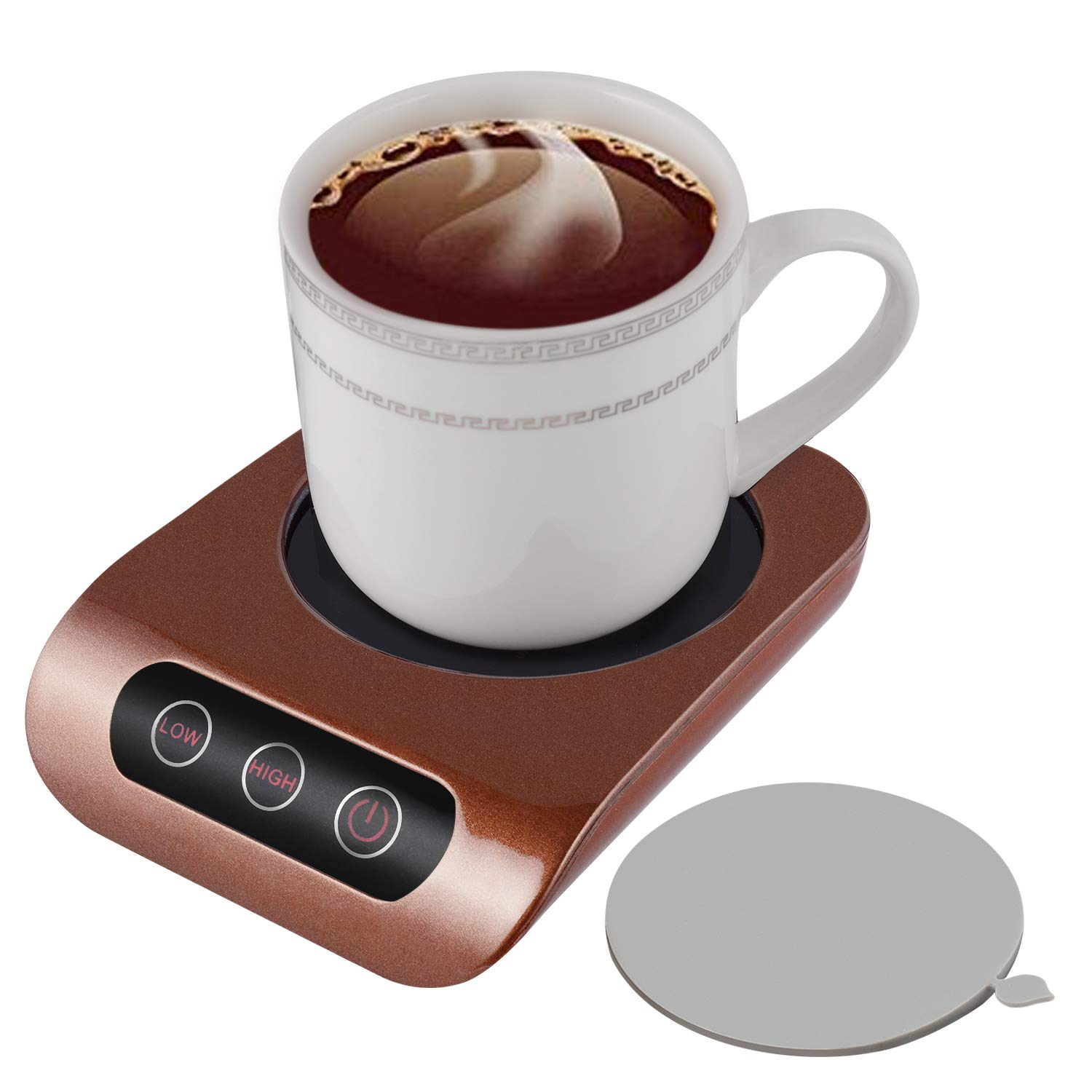 KUWAN Coffee Mug Warmer - Desktop Beverage Warmer - Electric Cup Warmer Tea Milk for Office Home 110V 30W Best Gift for Coffee Lovers FX-H1