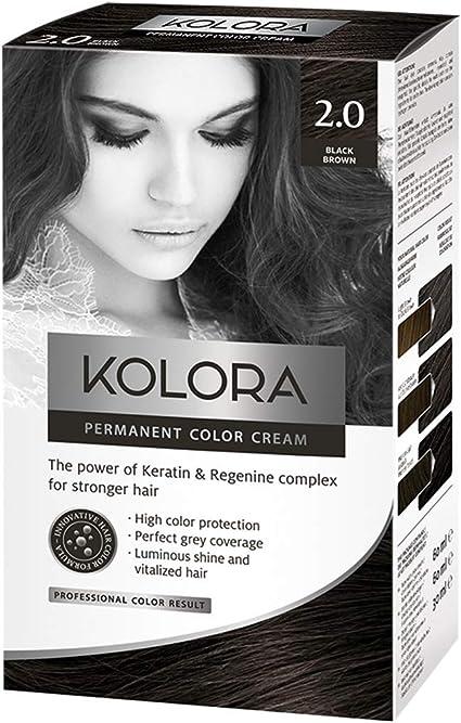 AROMA Tinte para cabello 2.0 Kolora negro marrón 60 ml1 ...