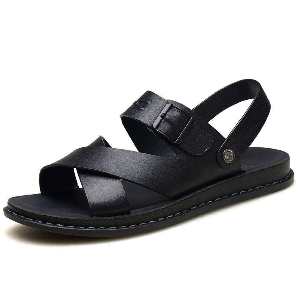 Sandalias De Verano para Hombres Zapatos Transpirables Sandalias Zapatos De Playa Black