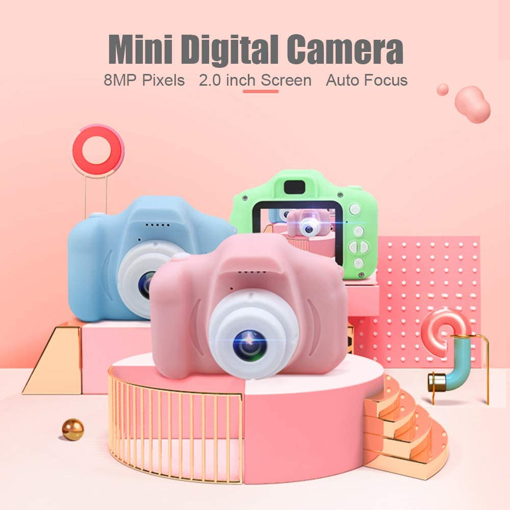 Godyluck Mini c/ámara Digital X2 para ni/ños Videoc/ámaras multifunci/ón de grabaci/ón de Fotos para ni/ños