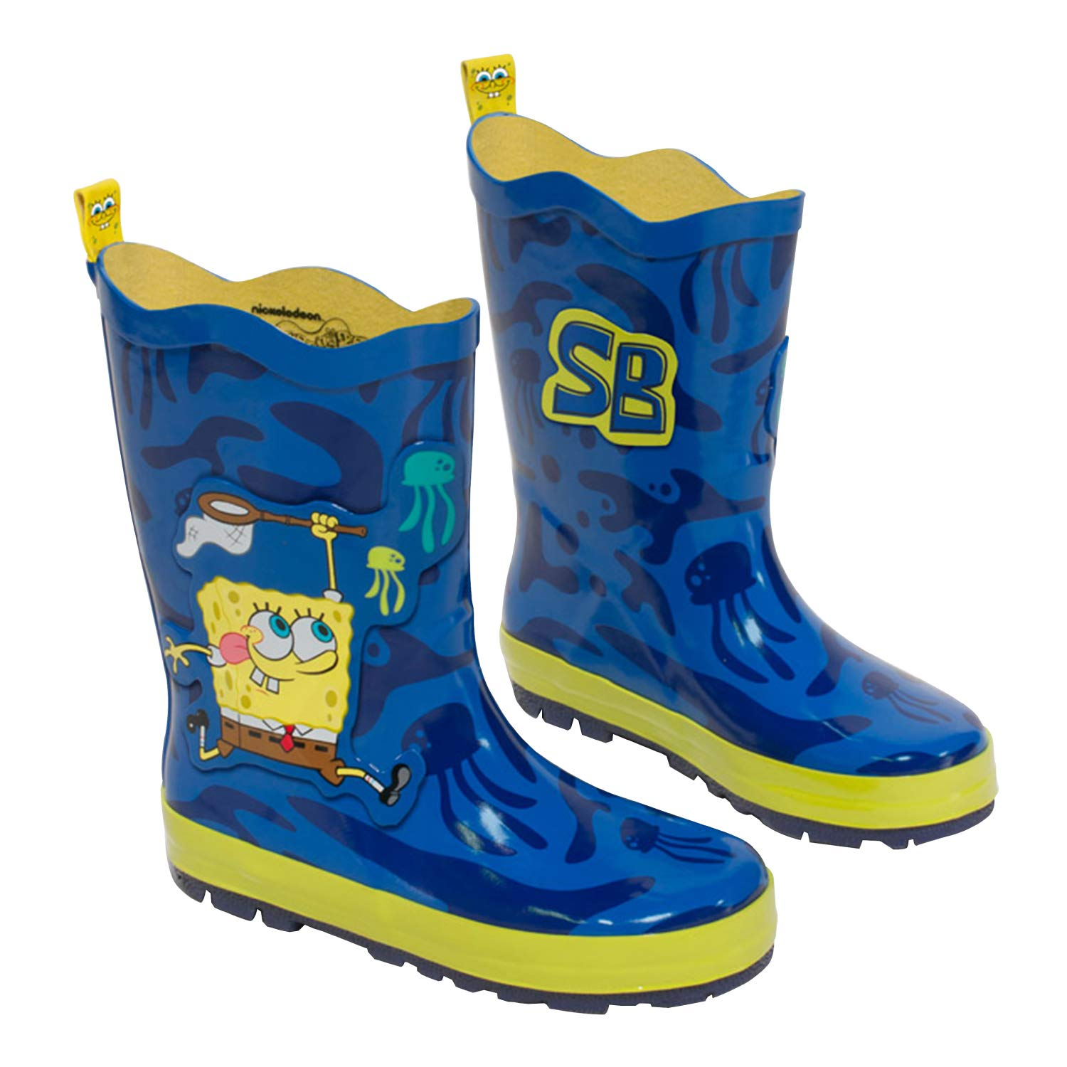 Amazon.com: Kidorable Bob Esponja Azul Natural Botas de ...