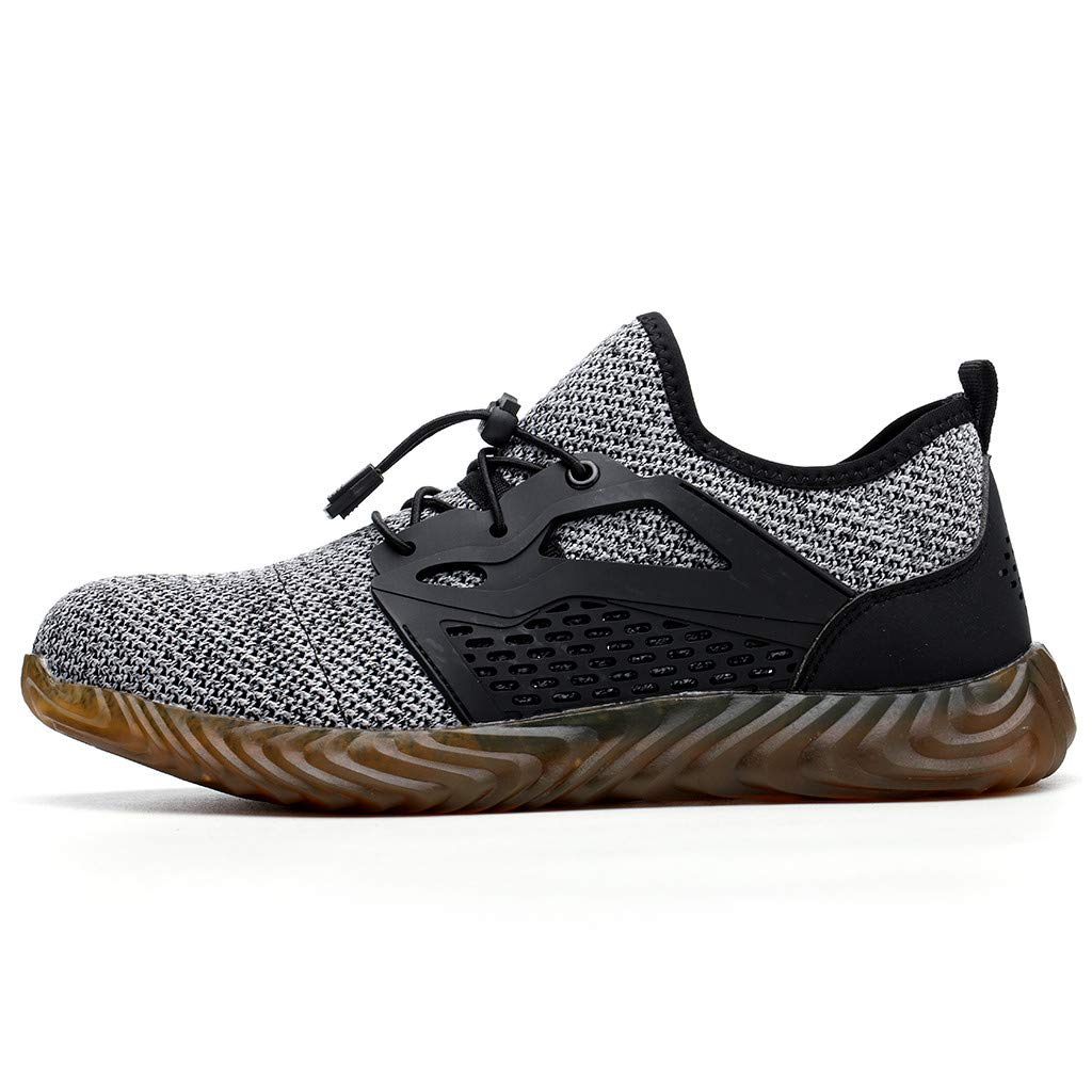 BBT-Shop Men's Sneakers, Leisure Breathable Running Shoes Outdoor Sports Walking Hiking Shoes Steel Toe Safety Work Shoes Non Slip Wear-Resistant Comfortable Absorption Autumn Athletic Shoes by BBTshop (Image #2)