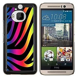 """Be-Star Único Patrón Plástico Duro Fundas Cover Cubre Hard Case Cover Para HTC One M9+ / M9 Plus (Not M9) ( Zebra Patrón de neón colorido arte Wallpaper"""" )"""