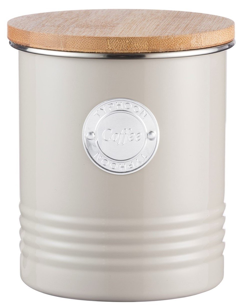 Typhoon Living Airtight Tea Storage Canister with Bamboo Lid, 1 Litre, Cream Rayware 1400.974