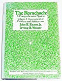 img - for The Rorschach: A Comprehensive System Volume 3: Assessment of Children and Adolescents (Wiley Interscience Series on Personality Processes) book / textbook / text book