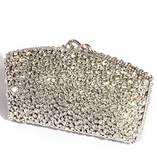 Bags Purses Evening Luxury Digabi Crystal Clutch Rhinestone Style Butterfly New For Silver women SxwqZP