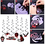 UNOMOR Halloween Hanging Decorations, Creepy Swirl Ceiling Party Decorating Kit for Haunted House – 17pcs