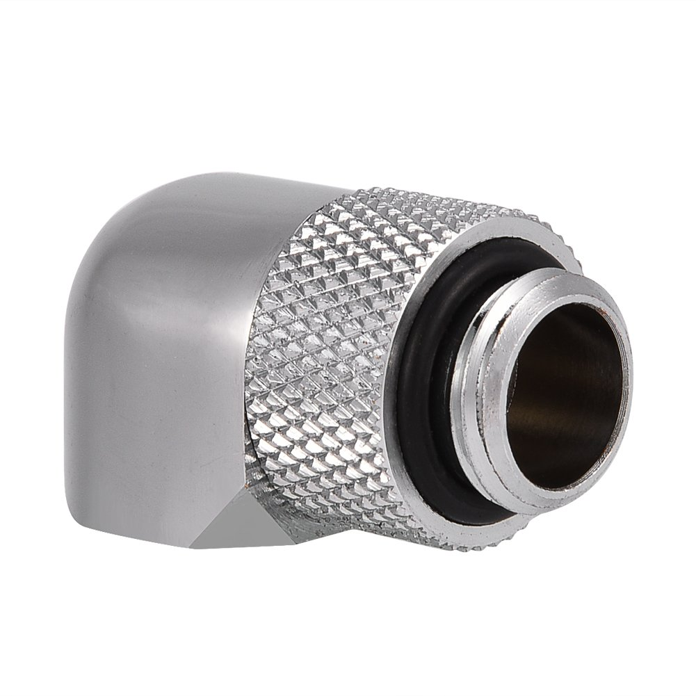 90 Degrees PC Water Cooling Two-Touch Fitting G1//4 Thread Elbow Barb Connector for PC Water Cooling System Silver Wendry 90 Degrees Water Cooling Fitting