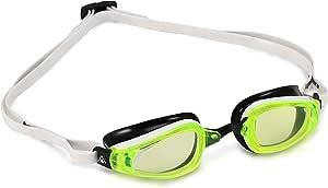 (Regular Fit, Yellow Lens - White/Black) - MP Michael Phelps K180 Swimming Goggle