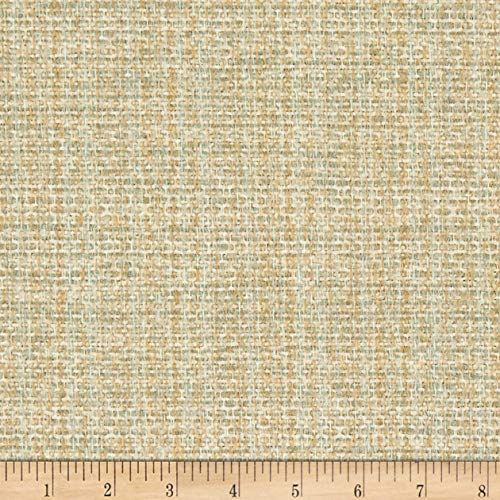 (Magnolia Home Fashions Upholstery Boulder Basketweave Fabric by The Yard, Spa)
