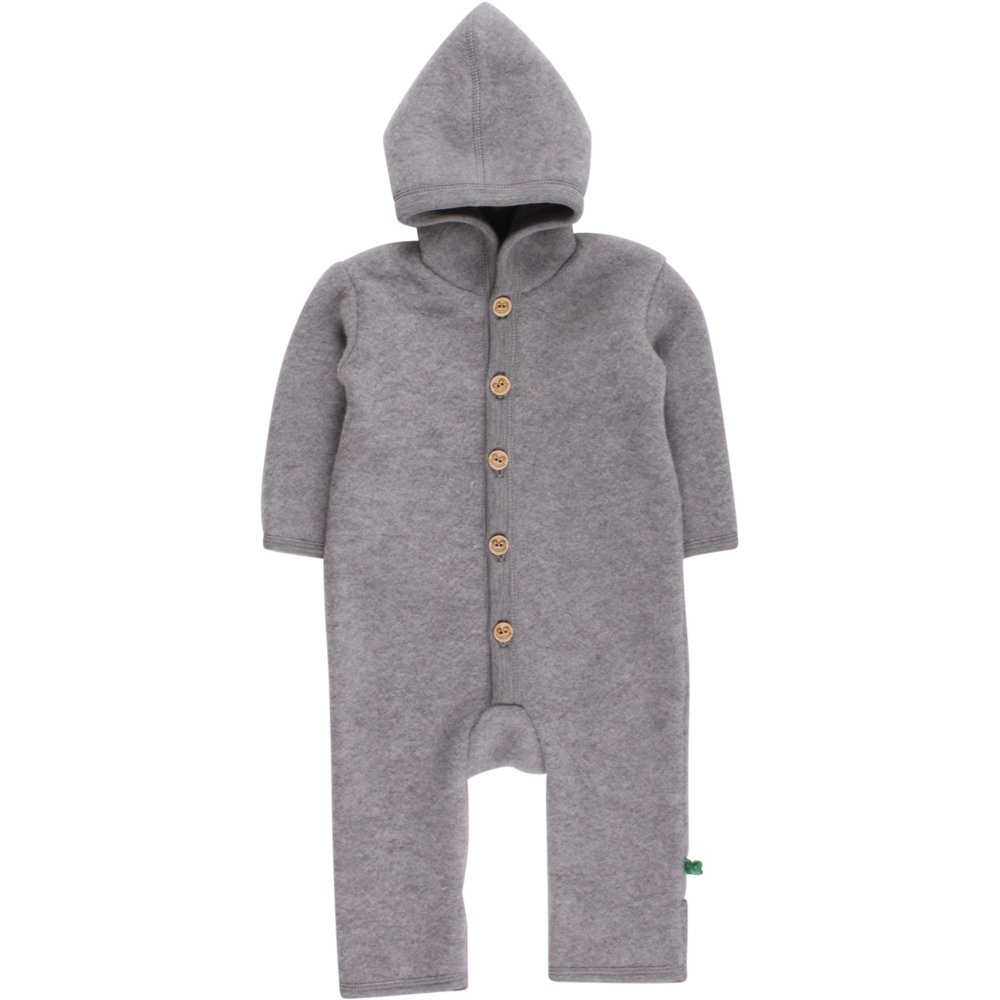 Fred's World by Green Cotton Baby-Jungen Body Wool Fleece Suit with Hood