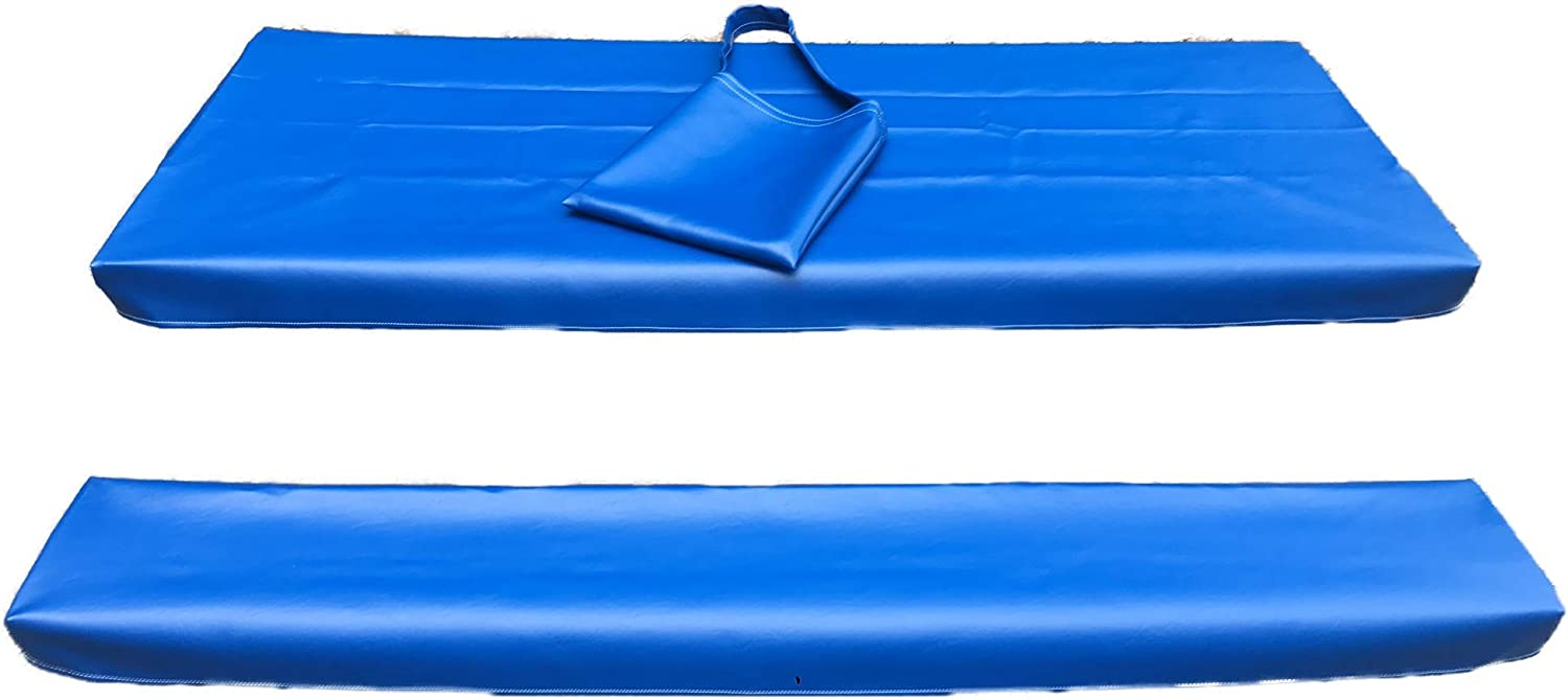 Table Gloves- Worlds Finest, Most Heavy Duty, Fitted Marine Grade Vinyl Picnic Table Cover Sets- Hand Made in The U.S.A. - Great for Camping or Full Time RV Living- (6 Foot Set- Royal Blue)