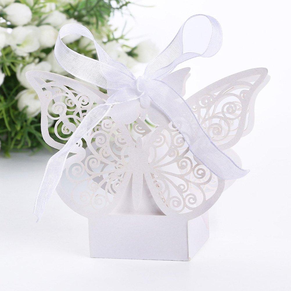 Amazon.com: Tinksky 50pcs Laser Cut Wedding Favor Box Birthday ...
