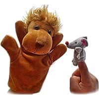2pcs Conjunto Marionetas Dedo - León Y Ratón