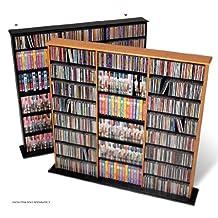Prepac BMA-0960 Triple-Width Wall Media Storage Rack (Black)