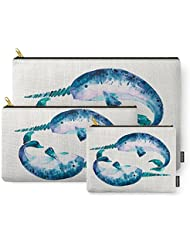 Society6 Blue Narwhals Carry-All Pouch