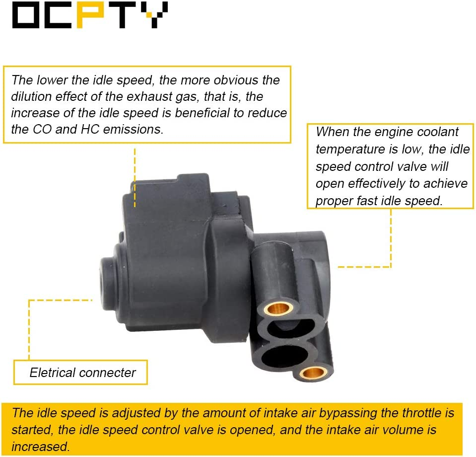 OCPTY 2H1429 Fuel Injection New Idle Air Control Motor FIT for 1996 1997 1998 1999 BMW 318i// 318is// 318ti// Z3