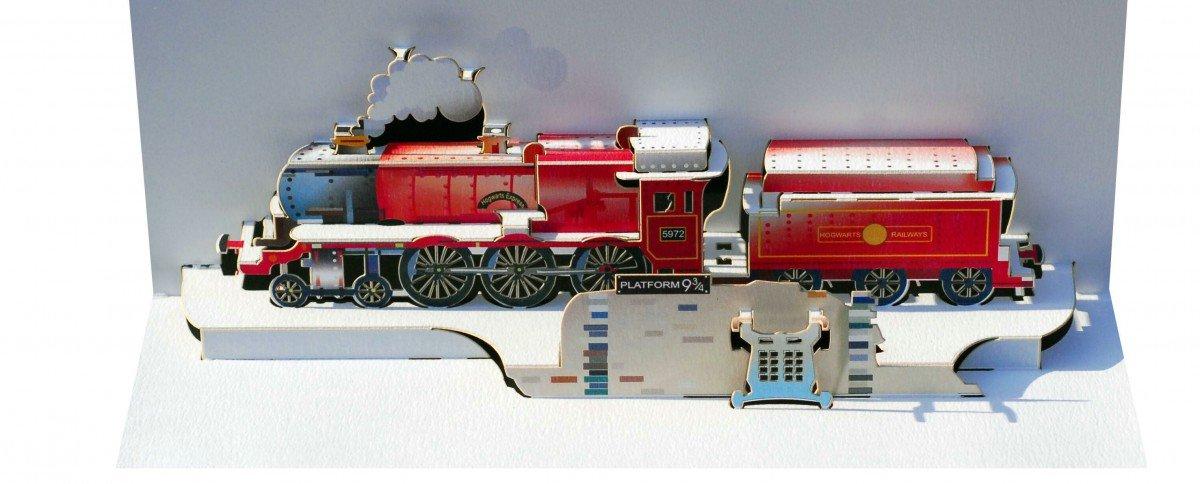 Pop Up 3D di Hogwarts ferro apertura auguri di compleanno Hogwarts Express at plattform9 3/4 25 x 15 cm Forever