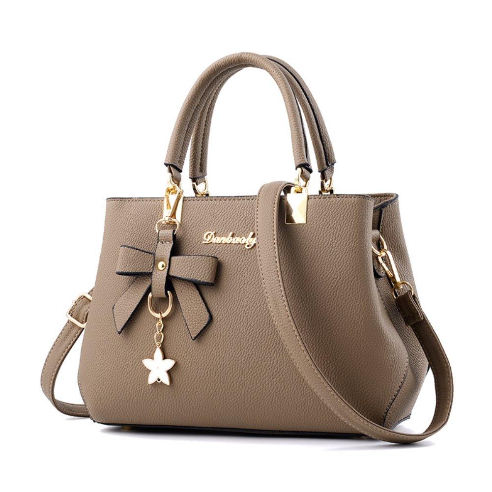 Fantastic Zone Women Handbags Fashion Handbags for Women PU Leather Shoulder Bags Messenger Tote Bags Khaki